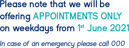 Weekdays - Appointments Only